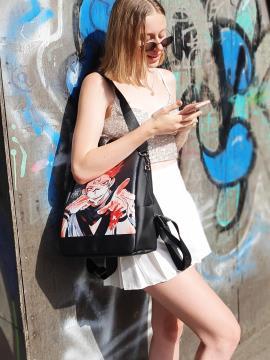 Молодежный рюкзак с принтом Ремен Сукуна alba soboni 211523 цвет черный. Фото - 2