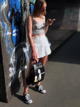 Модный рюкзак Рик и Морти alba soboni 211524 цвет черный. Фото - 2