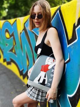 Молодежный рюкзак с принтом Сакура Харуно alba soboni 211525 цвет серебро. Фото - 2