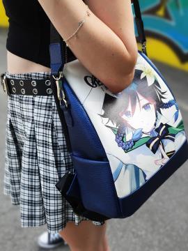 Молодежный рюкзак Venti Genshin Impact alba soboni 211527 цвет синий-перламутр. Фото - 2