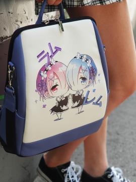 Молодежный рюкзак Ре Зеро для девочек alba soboni 211529 цвет сиреневый. Фото - 1