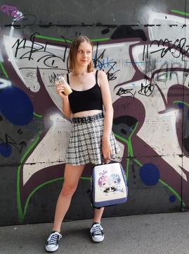 Молодежный рюкзак Ре Зеро для девочек alba soboni 211529 цвет сиреневый. Фото - 2