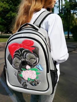 Фото товара: школьный рюкзак 211701 серебро. Фото - 1.