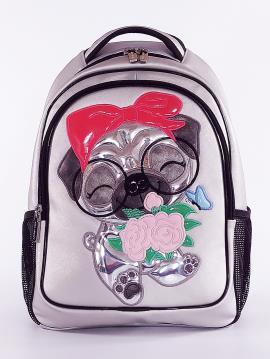 Фото товара: школьный рюкзак 211701 серебро. Фото - 2.