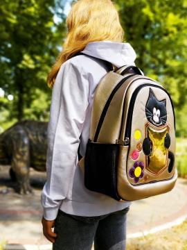 Фото товара: школьный рюкзак 211702 золото. Фото - 1.