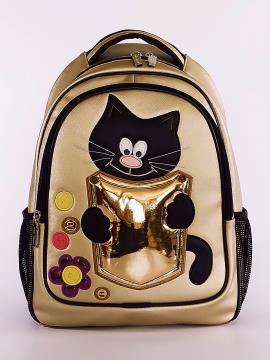 Фото товара: школьный рюкзак 211702 золото. Фото - 2.