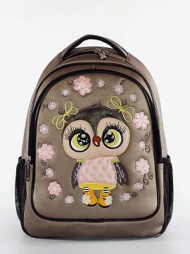 Фото товара: школьный рюкзак 211703 бронза. Фото - 2.