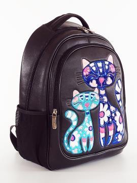 Фото товара: школьный рюкзак 211706 черный. Фото - 2.