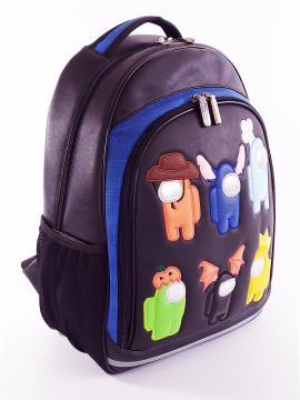 Фото товара: школьный рюкзак 211713 черный. Фото - 2.