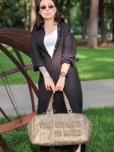 Дорожная сумка THE WORLD IS MINE alba soboni 212374 цвет хаки-никель . Фото - 1
