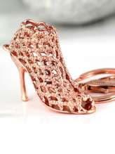 Стильный брелок туфелька розовое золото. Изображение товара, вид 1