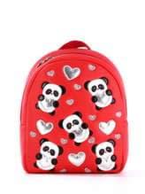Стильний дитячий рюкзак з вышивкою, модель 1832 червоний. Зображення товару, вид спереду.
