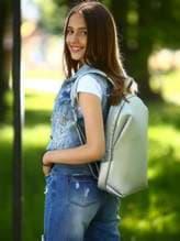 Школьный рюкзак, модель 181451 серебро. Изображение товара, вид спереди.