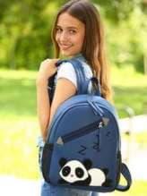 Стильный рюкзак с вышивкой, модель 181543 синий. Изображение товара, вид спереди.
