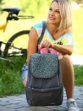 Стильный рюкзак с вышивкой, модель 183844 серый. Изображение товара, вид спереди.