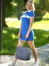 Модная сумка с вышивкой, модель 183864 серый. Изображение товара, вид спереди.