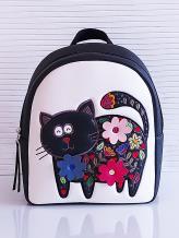 Фото товара: рюкзак KH0141 белый-черный. Вид 1.