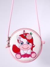 Фото товара: сумка через плечо 2066 белый-розовый. Вид 1.