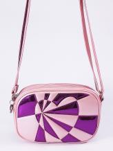 Фото товара: сумка через плечо 2112 розовый-перламутр. Вид 1.