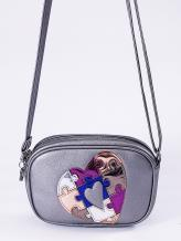 Фото товара: сумка через плечо 2116 никель. Вид 1.