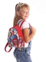 Стильный детский рюкзак с вышивкой, модель 1956 милитари/черный. Изображение товара, вид дополнительный.