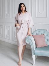 Фото товара: женский льняной халат