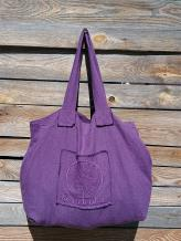 Фото товара: льняная сумка фиолетовая. Вид 1.