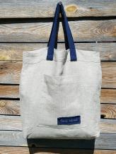 Фото товара: льняная сумка натуральный цвет экрю. Вид 1.
