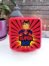 Стильный ланч-бокс super boy красный. Изображение товара, вид 1