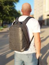 Фото товара: рюкзак MAN-012-2 темно-серый. Вид 1.