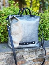 Фото товара: сумка MAN-013-3 никель. Вид 1.