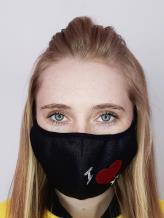 Фото товара: маска двухслойная 014 черный. Вид 1.