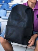 Модный рюкзак, модель 191613 черный. Изображение товара, вид спереди.