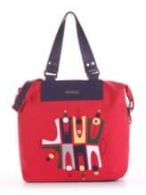 Модная cумка с вышивкой, модель 190052 красный. Изображение товара, вид спереди.