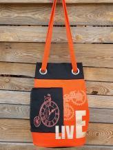 Фото товара: сумка-рюкзак 200253 оранжевый. Вид 1.