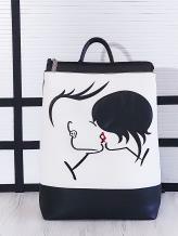 Фото товара: рюкзак 201301 черно-белый. Вид 1.
