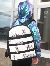 Фото товара: рюкзак 201351 черно-белый. Вид 5.