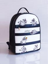 Фото товара: рюкзак 201352 черно-белый. Вид 1.