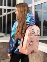 Фото товара: рюкзак 201354 розовый-перламутр. Вид 5.