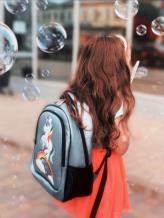 Фото товара: рюкзак 201703 голубой-перламутр. Вид 4.