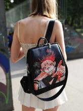 Молодежный рюкзак с принтом Ремен Сукуна alba soboni 211523 цвет черный. Фото - 1
