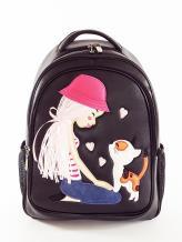 Фото товара: школьный рюкзак 211705 черный. Фото - 1.