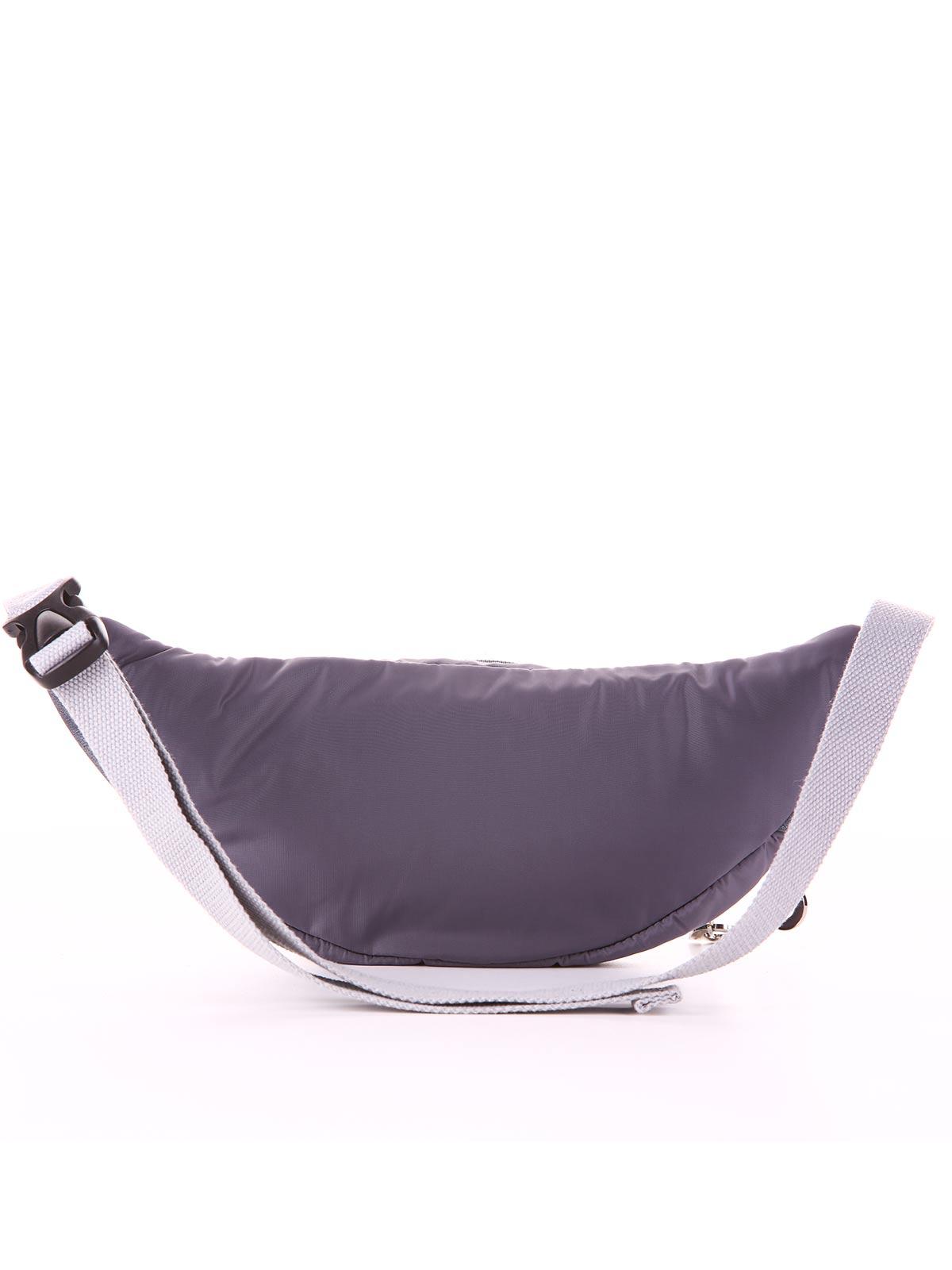 Модная сумка на пояс, модель 183884 серый. Фото товара, вид дополнительный.