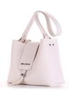 Стильная сумка, модель E18037 белый. Фото товара, вид сбоку.