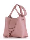 Модная сумка, модель E18039 пудрово-розовый. Фото товара, вид сбоку.