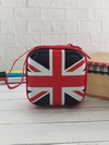 Брендовый чехол для наушников флаг великобритании квадратный красный. Фото товара, вид 1