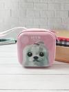 Брендовый чехол для наушников щенок iryn квардатный розовый. Фото товара, вид 1