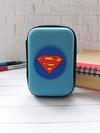 Брендовий чохол для навушників супермен блакитний. Фото товару, вид 1