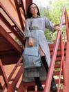 Шкільний рюкзак, модель 191583 бакитна хвиля. Фото товару, вид спереду.