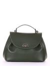 Брендовая сумка, модель 190007 темно-зеленый. Фото товара, вид спереди.